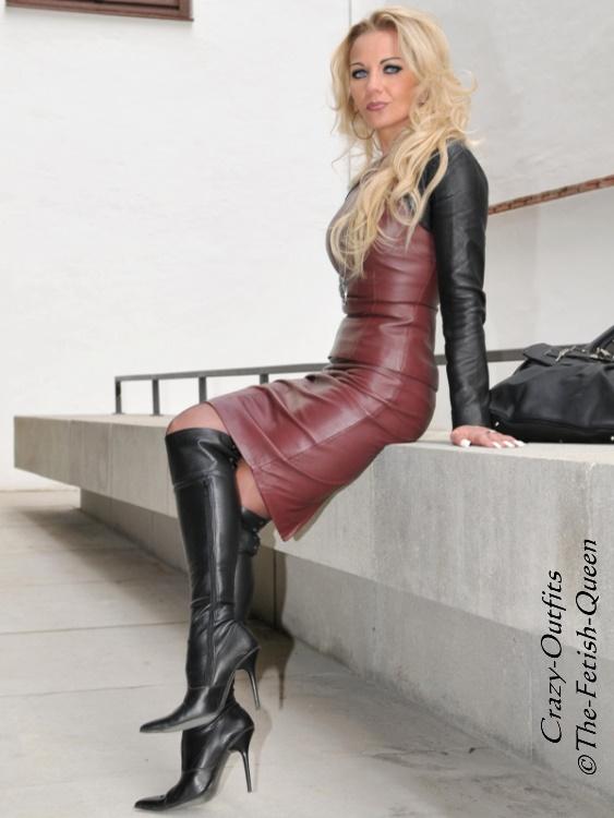 bb58c5ad9528d7 Dames  kleding Lederrock Leder Rock Burgunder Gehschlitz Größe 32-58 XS XXXL